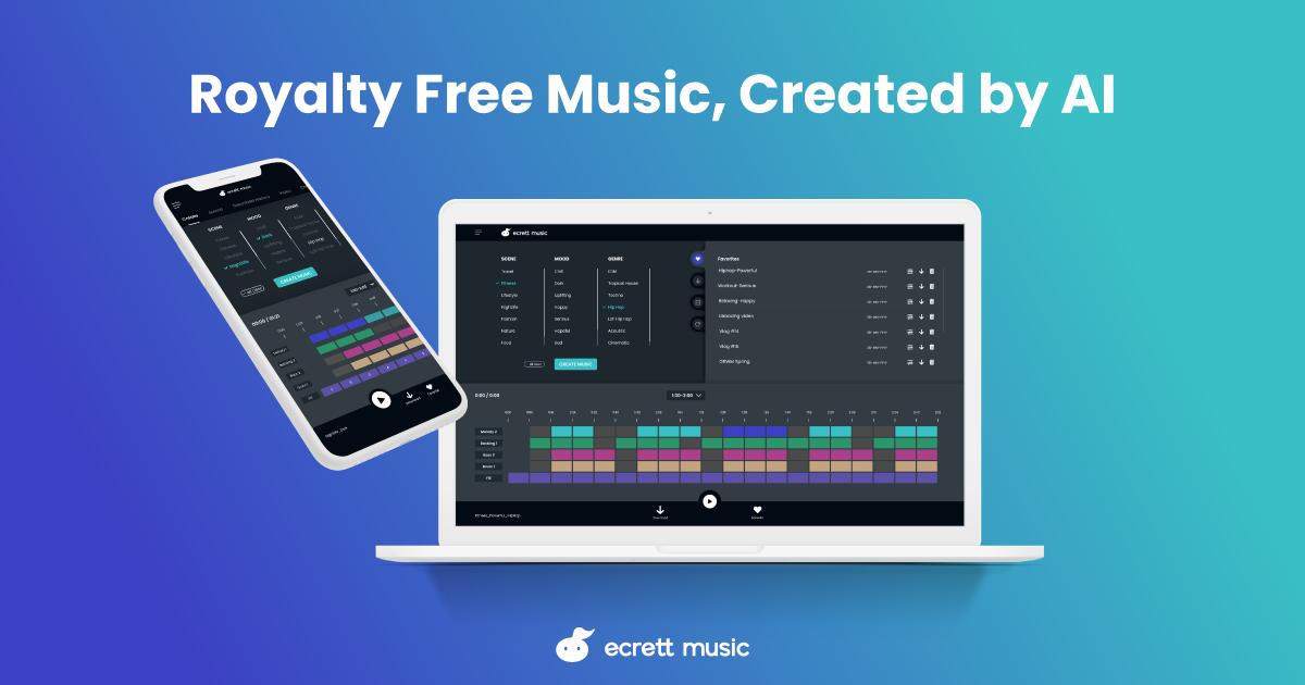 Easy way to create royalty free music - ecrett music